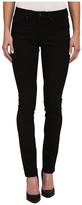 Jag Jeans Hayward Mid Rise Slim Alpha Denim in Black On Black