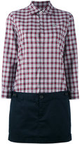 DSQUARED2 two in one plaid shirt with skirt