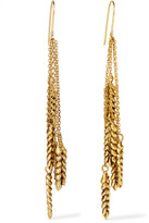 Aurelie Bidermann Wheat Gold-plated Earrings - one size
