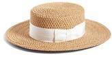 Eric Javits Women's 'Gondolier' Boater Hat - Beige