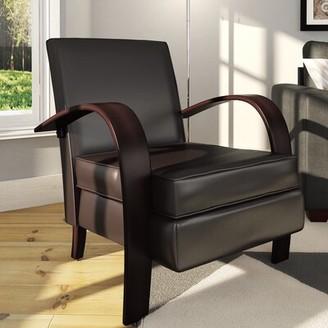 Latitude Run Robertson Armchair Upholstery: Brown