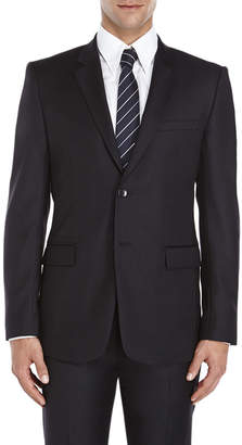 Theory Black Two-Button Slim Fit Wool Suit Jacket