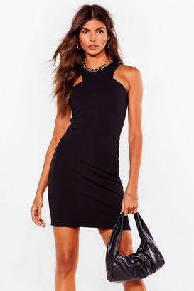 Nasty Gal Womens Cut It Out Bodycon Mini Dress - Black - 4