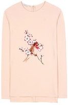 Stella McCartney Embroidered Crêpe Top