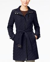 Cole Haan Signature Quilted Belted Coat