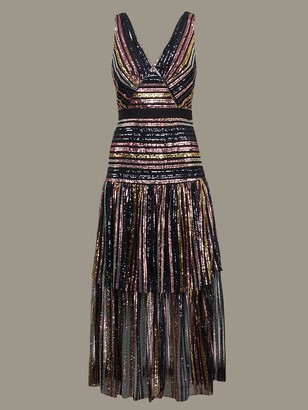 Self-Portrait Dress With Colored Sequins
