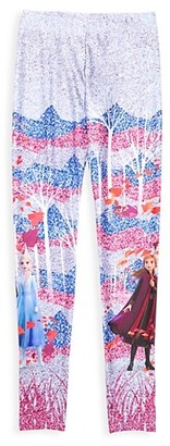 Terez Disney's Frozen 2 Little Girl's & Girl's Enchanted Forest Sparkle Leggings