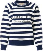 Burberry - pull rayé à logo - women