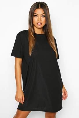 boohoo Rib Knit T-Shirt Dress