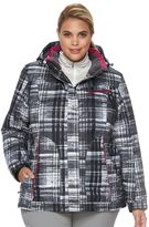 ZeroXposur Plus Size Beverly Hooded Snowboard Jacket & Fleece Headband