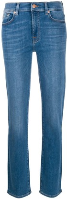 7 For All Mankind Faded Effect Jeans