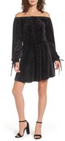 Juicy Couture Women's Track Off The Shoulder Velour Dress