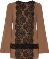 Dolce & Gabbana Lace-appliquéd wool-blend top