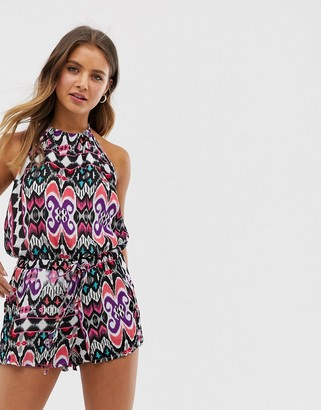 Raga Tainted Love printed playsuit-Multi