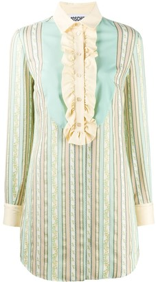 Moschino Striped Jacquard Dress
