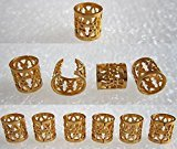 Magic Dread Lock Dreadlocks Braiding Beads Golden Metal Cuffs Hair Accessories Decoration Filigree Tube 8mm 10pcs Pack
