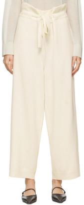 LE 17 SEPTEMBRE LE17SEPTEMBRE Off-White Wool Lounge Pants