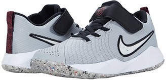 Nike Kids Team Hustle Quick 2 MTF (Little Kid) (Light Smoke Grey/White/Black/Bright Crimson) Kid's Shoes