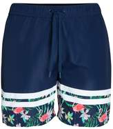 Mens Bjorn Borg Navy Floral Print Swim Shorts - Blue