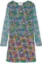 Emilio Pucci Layered Printed Silk-Georgette Mini Dress