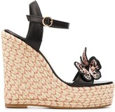 Sophia Webster embroidered wedge espadrilles