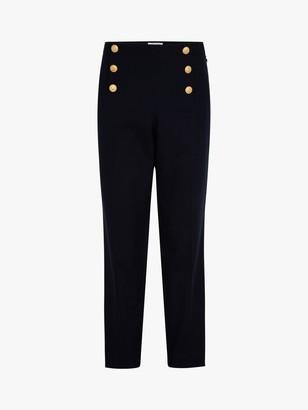 Gerard Darel Martina Button Detail Trousers, Blue