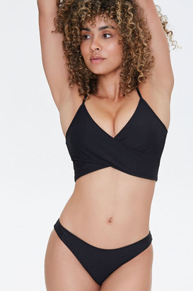 Forever 21 Ribbed Low-Rise Bikini Bottoms
