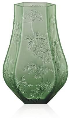 Lalique Ombelles Green Vase