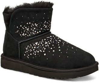 UGG Classic Galaxy Bling Genuine Shearling Lined Mini Bootie