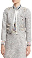 Marc Jacobs Embellished Tweed Jacket, White/Multi