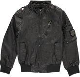 "Urban Republic Big Boys' ""Faux-Leather Mode"" Jacket - , 10-12"