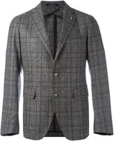 Tagliatore plaid single breasted blazer - men - Cupro/Virgin Wool - 52