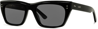 Celine Men's Square Acetate Sunglasses, Black