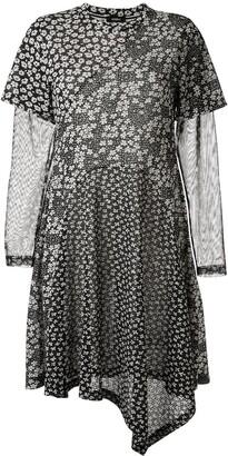 GOEN.J floral print asymmetric dress