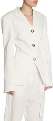 Proenza Schouler Fitted Jersey Blazer