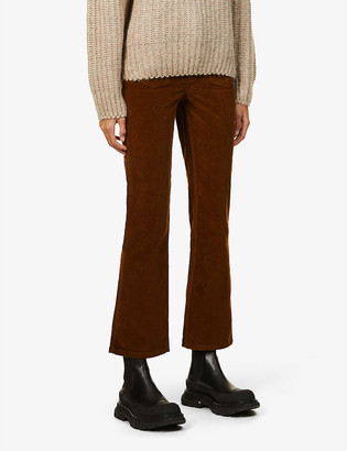 Maje Passionne straight-leg mid-rise corduroy trousers