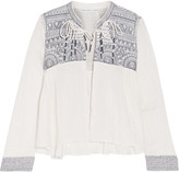Chelsea Flower Daisy embroidered cotton-gauze jacket
