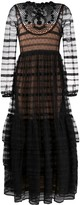 RED Valentino Long-Sleeved Open-Back Lace Dress