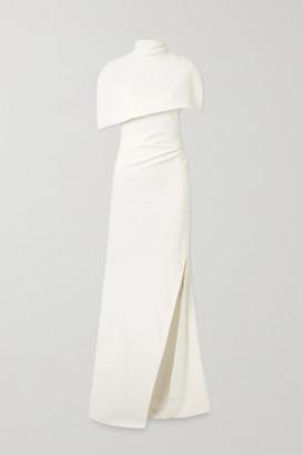 Brandon Maxwell Cape-effect Crepe Gown - White