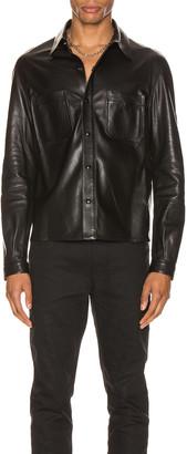 Saint Laurent Leather Shirt in Black | FWRD