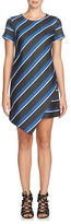 Cynthia Steffe Abbey Striped Asymmetrical Shift Dress
