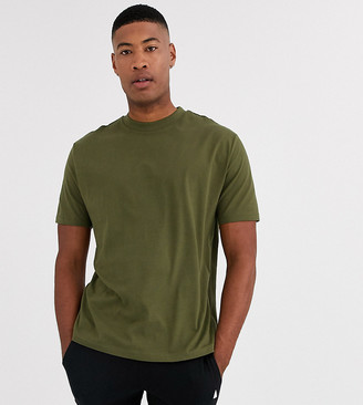 ASOS DESIGN Tall organic relaxed t-shirt with crew neck in khaki