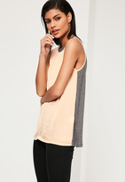 Missguided Jersey Back Chiffon Cami Top
