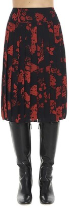 Tory Burch Floral Pleated Skirt