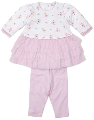 Kissy Kissy Ballerina Print Dress And Leggings Set