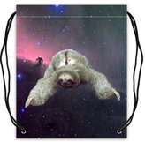 "Stylish Drawstring Bags Funny & Cute Sloth Nebula Galaxy Space Basketball Drawstring Bags Backpack, Sports Equipment Bag - 16.5""(W) x 19.3""(H), Twin-sided Print"