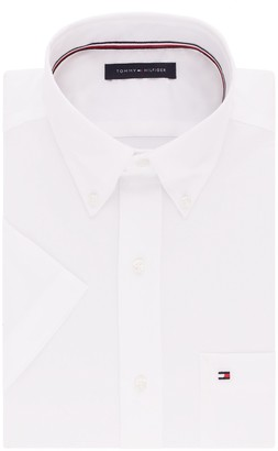 Tommy Hilfiger Men's Big and Tall Short Sleeve Button-Down Shirt