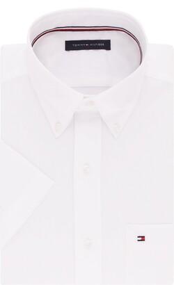 Tommy Hilfiger mens Short Sleeve Button-down Dress Shirt