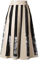 Christopher Kane striped lace embroidery skirt