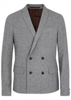 Kolor Grey Double-breasted Wool Blend Blazer